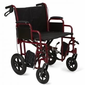 medline bariatric transport chair w 12 rear wheels