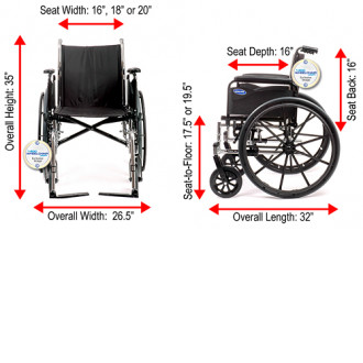 Folded And Sizes Of Invacare Tracer SX5 Manual Wheelchair ...