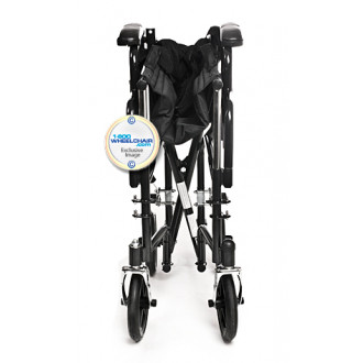 ... Folded Karman Removable Arm Transport Chair ...  sc 1 st  1800wheelchair.com & Karman T-2700 Transport Chair w/ Detachable Arms