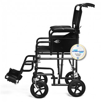 ... Karman Removable Arm Transport Chair. 1  sc 1 st  1800wheelchair.com & Karman T-2700 Transport Chair w/ Detachable Arms